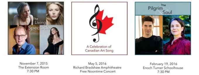 Canadian Art Song Project Recital Series begins in 15-16 Season
